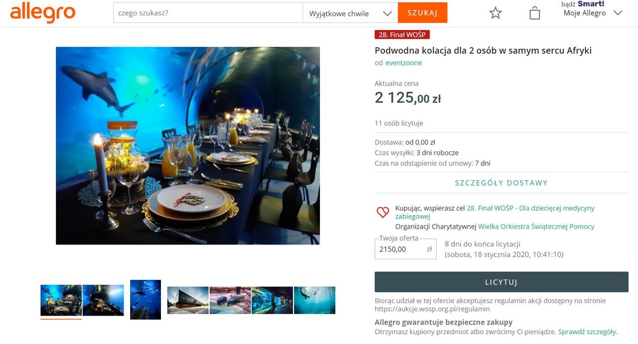 Podwodna kolacja - Wrocław