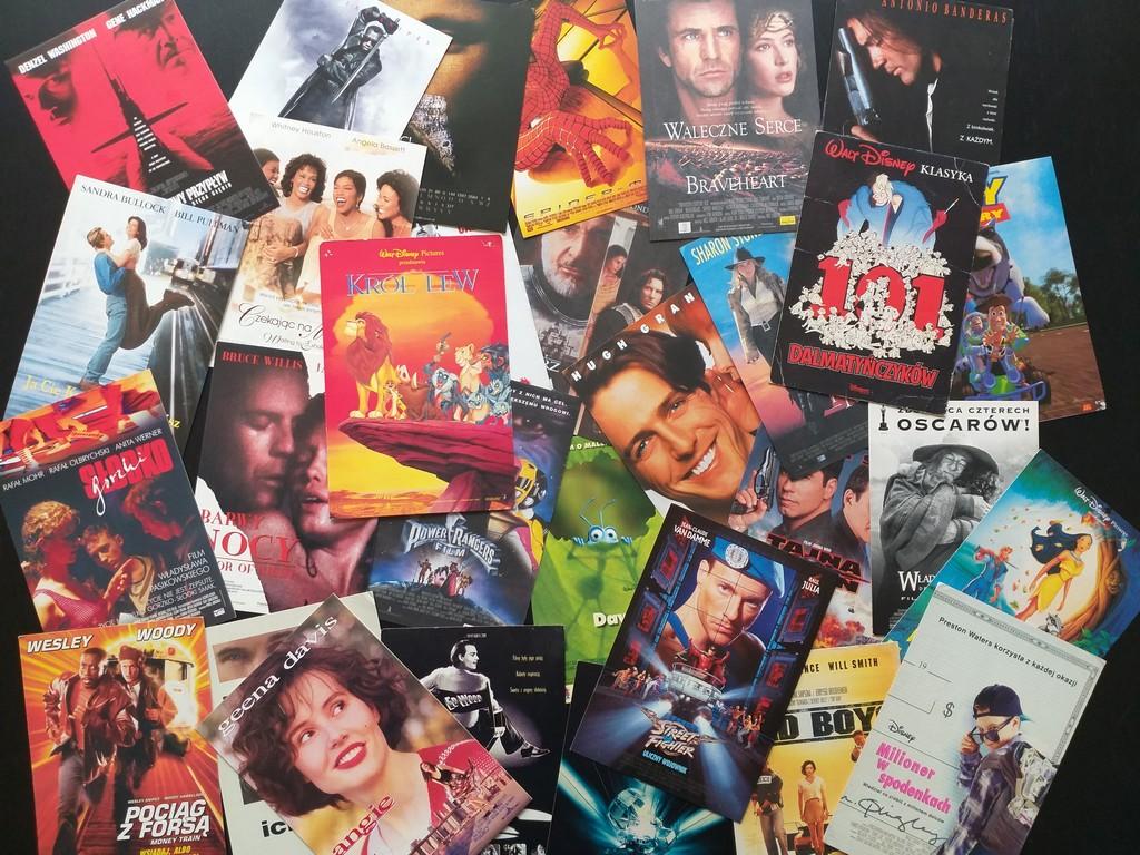 Ulotki filmowe kolekcja
