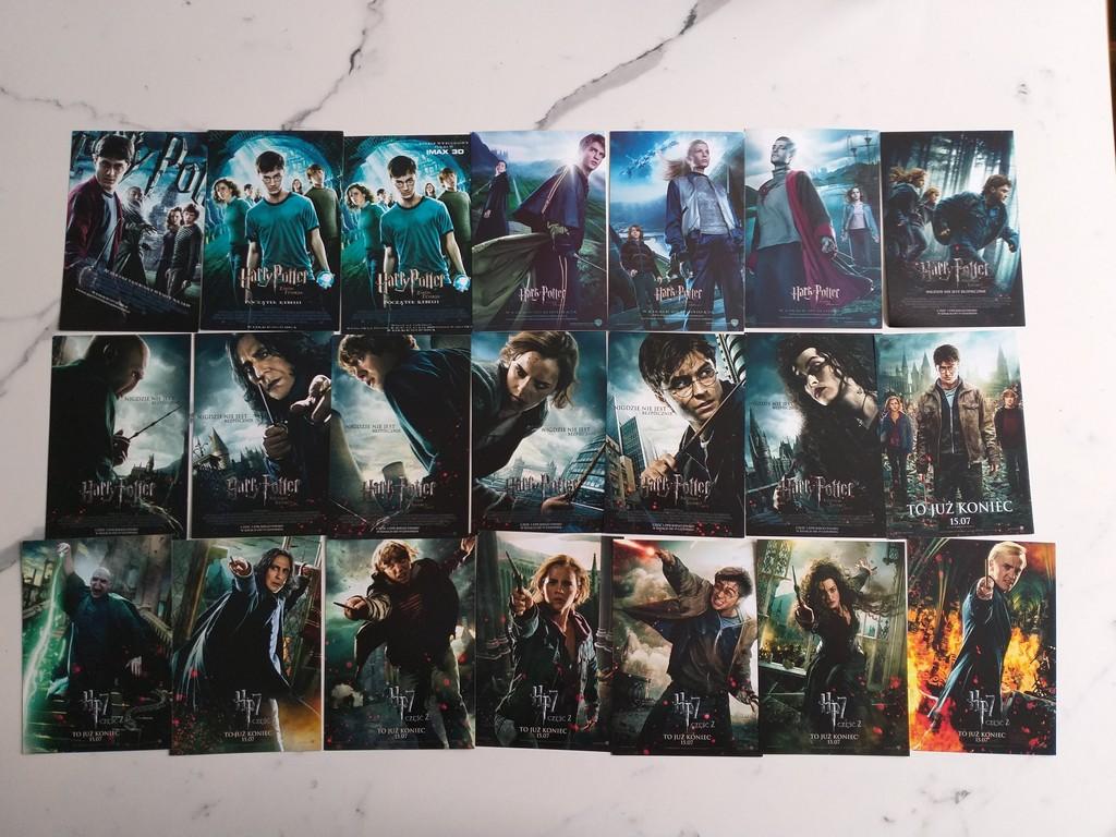 ulotki filmowe kolekcja. Harry Potter